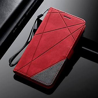 Stuff Certified® Samsung Galaxy A6 2018 - Leather Wallet Flip Case Cover Case Wallet Red