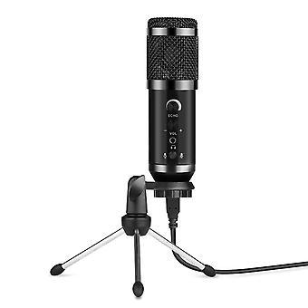 Micrófono condensador usb micrófono con cable cardioide patrón de recogida micrófono