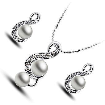 GWG Schmuck Damen Schmuckset Geschenk Sterling Silber Veredelte Schmuckset, aus