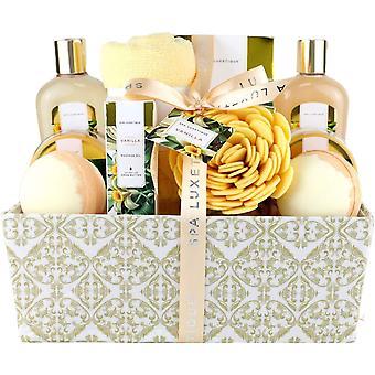 Gerui Spa Gift Set, 12pcs Vanilla Shower Set, Pamper Gifts for Women, Bath Gift Set with Body