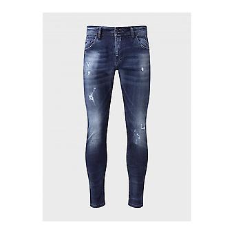 883 Politie Deniro Slim Fit Donkerblauwe Jeans