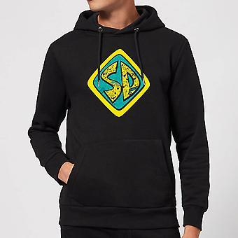 Scooby Doo Emblem Logo Merchandise Hoodie Hoody Hooded Top - Black