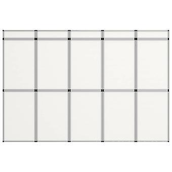 vidaXL 15-Panel Exhibition Wall Folding Display 302×200 cm White
