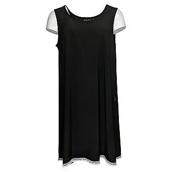 Attitudes by Renee Women's Top Sleeveless Tunic Black A353138