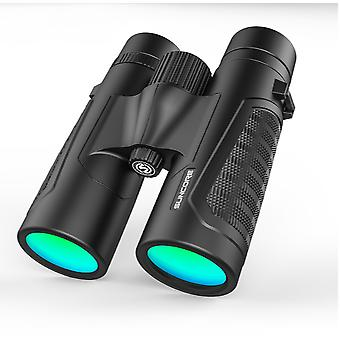 Professional 12 x 42 binoculars in BAK4 HD Color lens material Extra wide field of view with exceptional clarity for bird watching, hiking, travel, hunting and sport(Black)