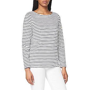 Joules Harbour T-Shirt, Cream Navy Stripe, 6 Women