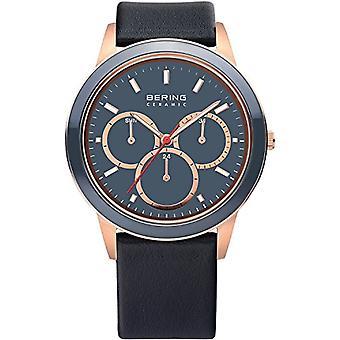 Bering Analog Watch Quartz Man com alça de couro 33840-467