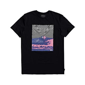 Quiksilver Tryck Drop Kort ärm T-shirt i svart