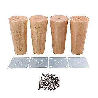 120x58x38mm Cone Wooden Furniture Feet Legs Load 100kg Set of 4