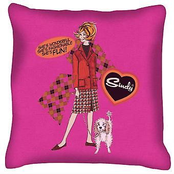 Sindy Wonderful Fashionable Fun Cushion