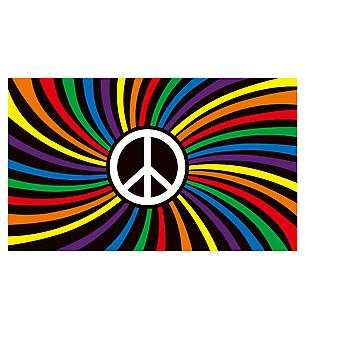 Rainbow flag gay les pride peace lgbt asexualism banner 3x6 ft ch17