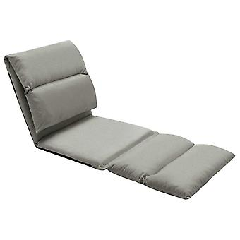 vidaXL chaise de plancher pliant gris foncé microfibre
