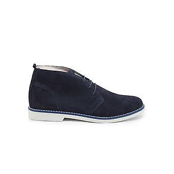 Duca di Morrone - Shoes - Lace-up shoes - 233D-CAMOSCIO-BLU - Men - navy - EU 42