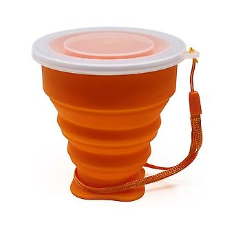 Mini Telescopic Portable Silicone Folding Cup With Dustproof Cover