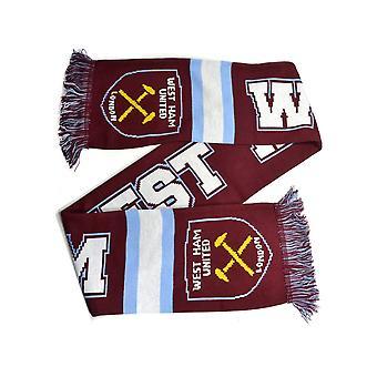 West Ham Breakaway Jacquard Gebreide Sjaal
