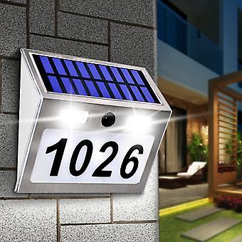 Solar Housen numerolaattavalo liiketunnistimen led-valojen osoite