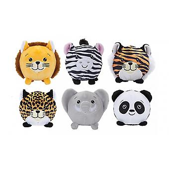 """PMS 3.5"""" Squishimi Plush with 6 Assorted Zoo Animal Series 5"""