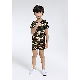 Camouflage pour enfants uniforme manches courtes