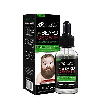 Miesten kasvu parta öljy orgaaninen parta vaha balsami välttää parta 100% luonnollinen hiustenlähtö