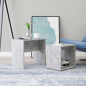 vidaXL set de table basse gris béton 48 x 30 x 45 cm panneau de particules