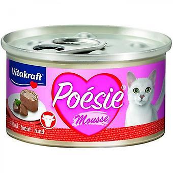Vitakraft Box Poetry Beef Foam - For Cat - 85 G