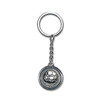 LAST FEW - Silver Metal Football Keyring - Cracker Filler Gift