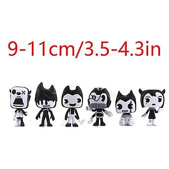 """4"""" 6pcs Bendy and the Ink Figures Toy Collection"""