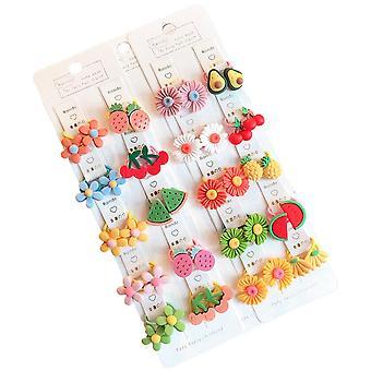40 Pcs/set Children Cute Animal Flower Fruit Flower Baby Elastic Hair Bands Lovely Rubber Bands Kid