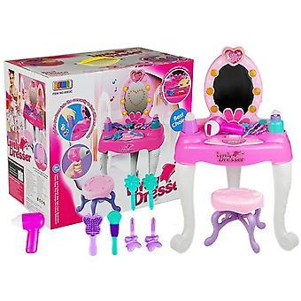 Dressing pour enfants - coiffeuse avec accessoires - rose