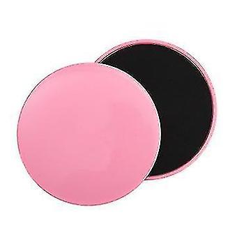 Fitness Sliding Disc Abdominal Muscle Training Balance Sliding Mat Indoor Sports(Pink)