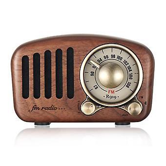 Retro Wood Radio BluetoothSpeaker Vintage Kannettava Radio vanhanaikaisella klassisella tyylillä| Radio