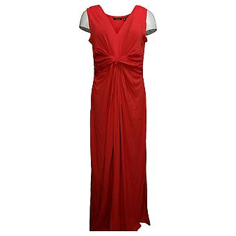 IMAN Global Chic Women's Dress Petite Flawless Knit Maxi Red 751382