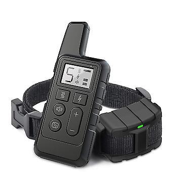 Collier d'entraînement Pet 500m Charge à distance, Vibration, Vibration, Anti-aboiement (noir)