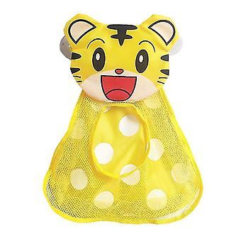 Baby badleksaker lagringsarrangör mesh nät med starka sugkoppar (Mesh)(Tiger)
