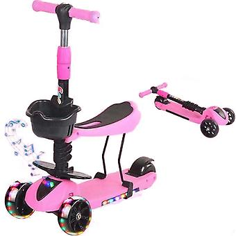 Регулируемая высота Скутер, 3 Мигающее колесо Kick Scooter