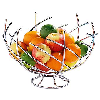 Frukt kurv Chrome Nest form fruktbolle