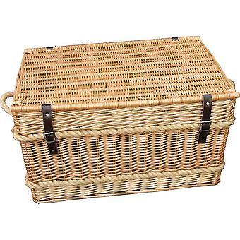 Rope Handled Trunk 66cm Empty Picnic Basket