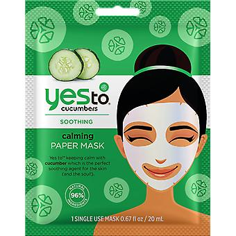 Yes To Cucumber Paper Mask Single Pack