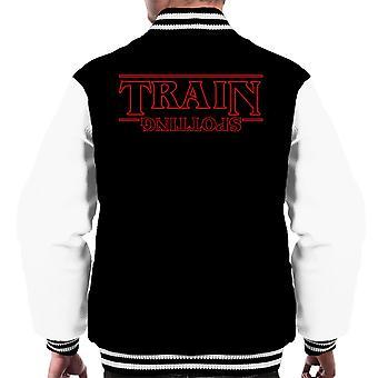 Trainspotting T2 idegen dolog fejjel lefelé férfiak ' s Varsity Jacket