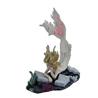 Verlorene Bücher von Tiffany Toland-Scott Reading Mermaid Statue