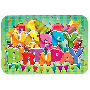 Carolines Treasures  APH8872LCB Happy Birthday Glass Cutting Board Large
