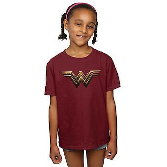 DC كاريكاتير البنات العدالة دوري الفيلم عجب امرأة شعار تي شيرت