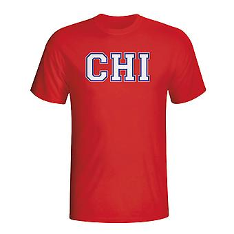 Čile krajiny ISO T-shirt (Red)-deti
