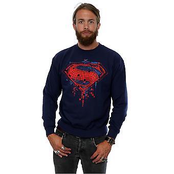 DC Comics Men's Batman v Superman Geo Logo Sweatshirt