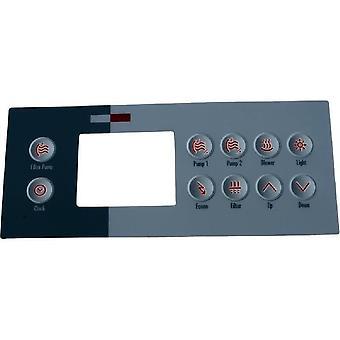 Gecko 9916-100761 10 Keys Overlay for TSC-4-10K-GE1