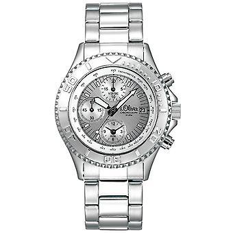 s.Oliver unisexe montre quartz analogique chronographe-bracelet SO-15072-MCR