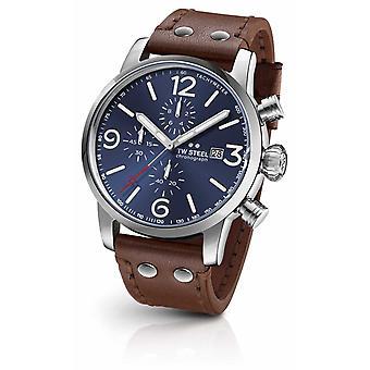 TW Steel Maverick kaliiperi Chronograph Dark Blue Sunray Dial MS104 Watch