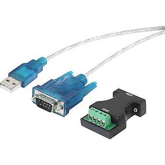 Renkforce USB 1.1 Adapter [1x D-SUB-plug 9-pin, Pole terminal - 1x USB 1.1 connector A] gold plated connectors