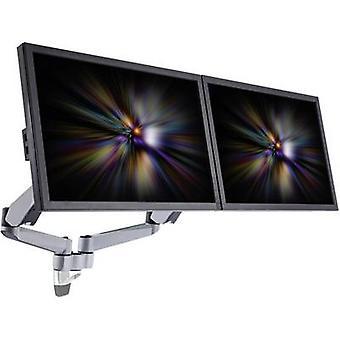 SpeaKa Professional SP-1624884 Superflex 2x Soporte de pared monitor 25,4 cm (10) - 68,6 cm (27) Ajustable en altura, Inclinable, Giratorio, Giratorio, Giratorio