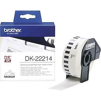 Brother DK-22214 Label roll 12 mm x 30,48 m Papir Hvid 1 pc(er) Permanent DK22214 All-purpose etiketter